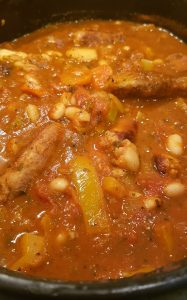 Mediterranean Style Stew with Herby Sausages