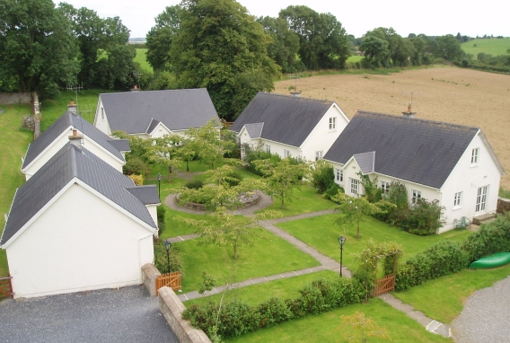 Aerial view of the holiday homes