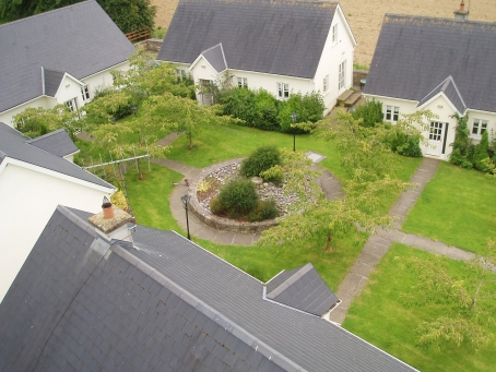 Aerial View of the holiday cottages