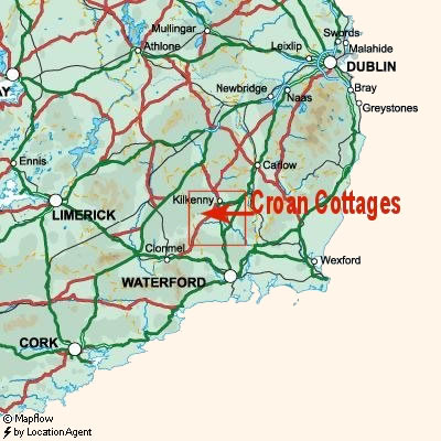 Croan Cottages are in County Kilkenny in Ireland's sunny Southeast